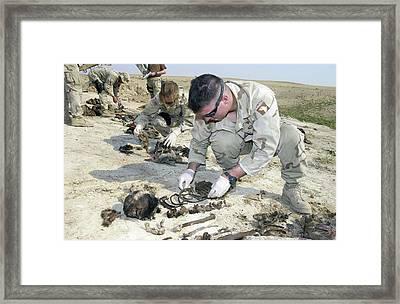 Forensic Investigation Framed Print