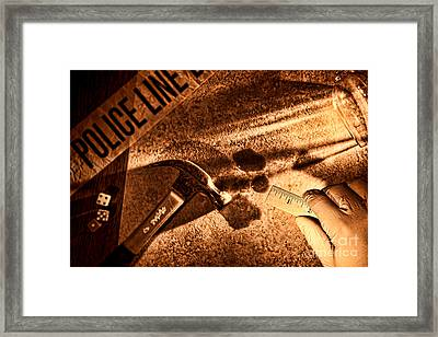 Forensic Framed Print by Olivier Le Queinec