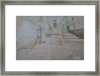 Framed Print featuring the painting Forenza Vita - Salita Trappeto by Giovanni Caputo