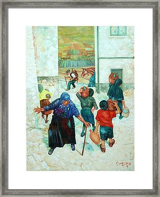 Framed Print featuring the painting Forenza Vita by Giovanni Caputo