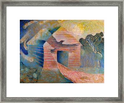 Foreshadowing Of A Twister Storm On The Wish-farm Framed Print