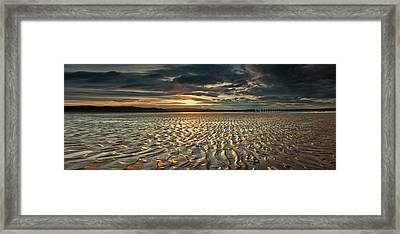 Foreshore At Dusk Framed Print