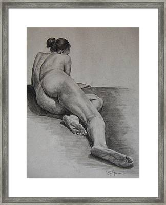 Foreshortened Nude Framed Print