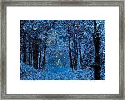 Forest Animal Christmas Framed Print by Michele Avanti