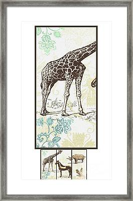 Forest Animals Group Suitable For Hanging Frames Framed Print