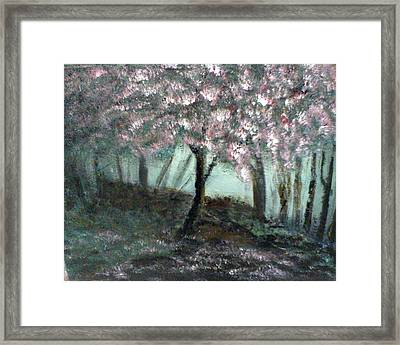 Framed Print featuring the painting Forest Beauty by J L Zarek