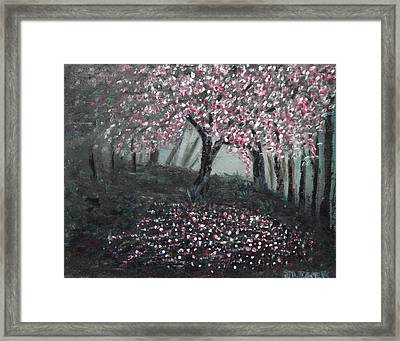 Framed Print featuring the painting Forest Beauty Two by J L Zarek