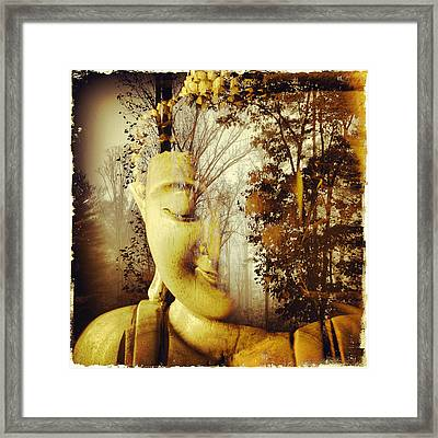Forest Buddha Framed Print