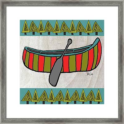 Forest-canoe Framed Print by Shanni Welsh