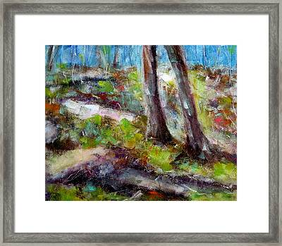 Framed Print featuring the painting Forest Carpet by Katie Black