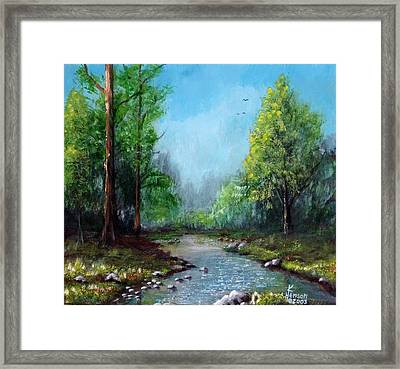 Forest Creek Framed Print by Kenny Henson