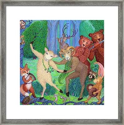 Forest Dance Framed Print by Debra A Hitchcock
