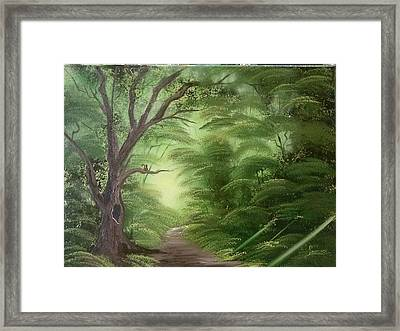 Forest Edge Framed Print by Lynn Lawrence