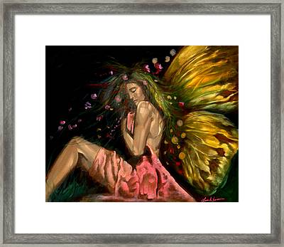 Forest Fairy Framed Print by Luis  Navarro