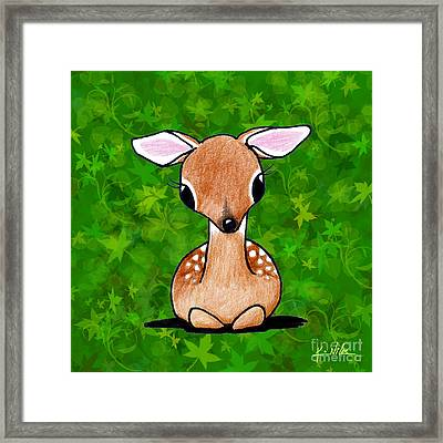 Forest Fawn Framed Print by Kim Niles