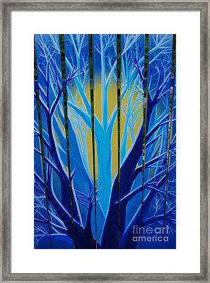 Forest Fence By Jrr Framed Print by First Star Art