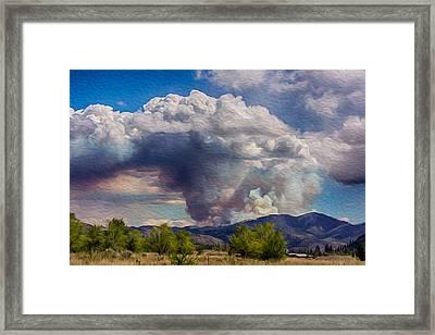 Forest Fire South Of Twisp Framed Print by Omaste Witkowski