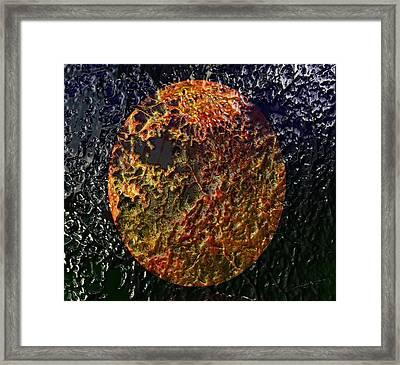 Forest Fireball Framed Print