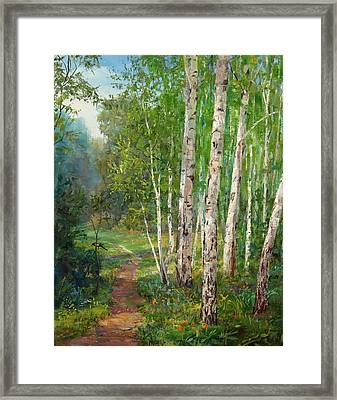 Russian Forest Footpath Framed Print