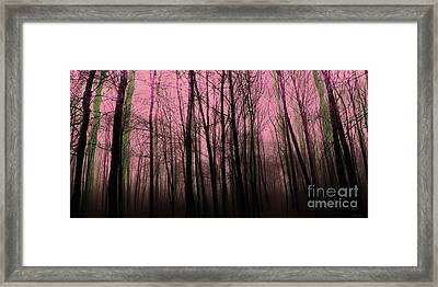 Forest For The Trees  Framed Print by Elizabeth McTaggart
