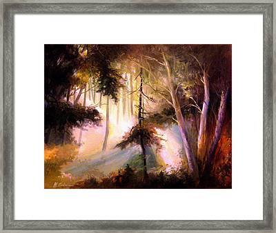 Forest Forest Forest Framed Print by Mikhail Savchenko
