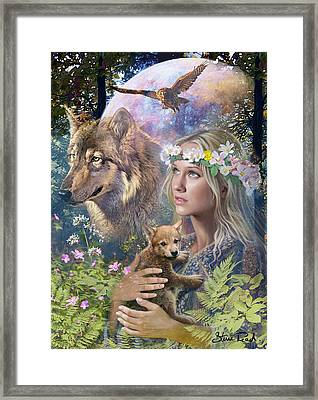 Forest Friends Variant 1 Framed Print by Steve Read