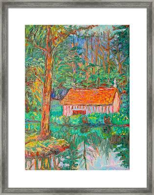 Forest Green Framed Print by Kendall Kessler