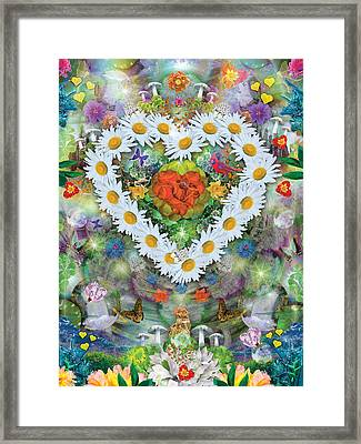 Forest Heart Framed Print by Alixandra Mullins
