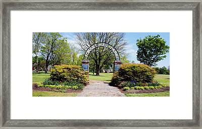Framed Print featuring the digital art Forest Hill Park by Kelvin Booker