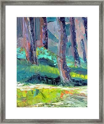 Forest In Motion Framed Print by Julie Maas