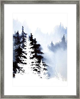 Forest Indigo Framed Print by Teresa Ascone