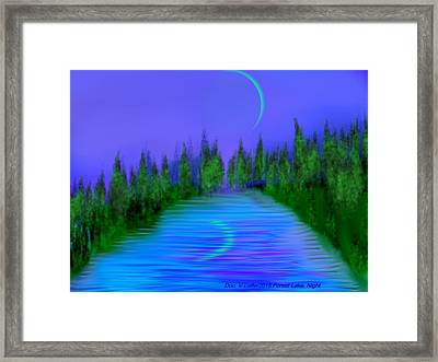 Forest Lake. Night. Framed Print by Dr Loifer Vladimir