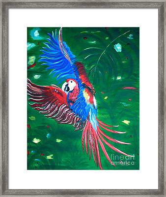 Framed Print featuring the painting Forest Landing by Phyllis Kaltenbach