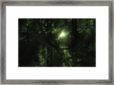 Framed Print featuring the digital art Forest Light by GJ Blackman