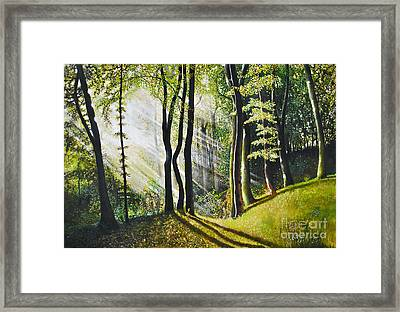 Framed Print featuring the painting Forest Oil Painting by Maja Sokolowska