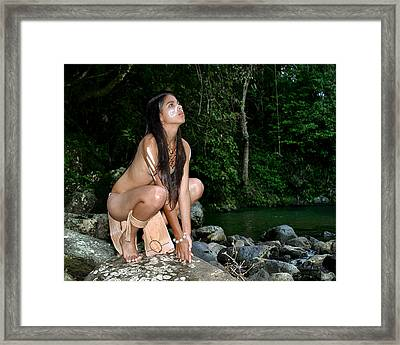 Forest Nymph Framed Print by Koa Feliciano