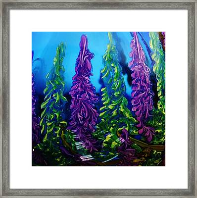 Forest Of A Different Color Framed Print by Bruce Bley