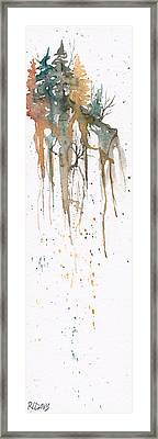 Framed Print featuring the painting Forest On A Cliff by Rebecca Davis
