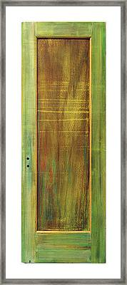 Forest Painted Door Framed Print by Asha Carolyn Young