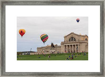 Forest Park Balloon Race Framed Print