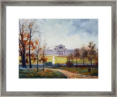 Forest Park Fall Saint Louis Framed Print by Irek Szelag