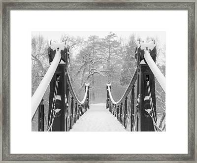 Forest Park Victorian Footbridge Framed Print