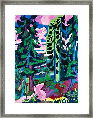 Forest Path In Summer Framed Print by Ernst Ludwig Kirchner