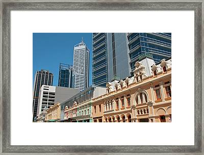 Forest Place Joining Old And New Framed Print by Bill Bachmann