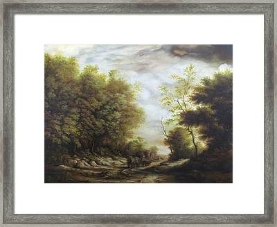 Forest Road 2 Framed Print by Dan Scurtu