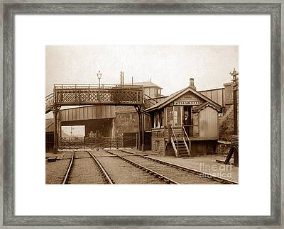 Forest Road Signal Box Leicester England In 1903 Framed Print