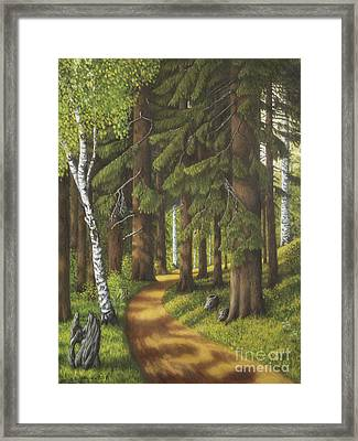 Forest Road Framed Print by Veikko Suikkanen