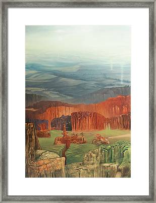 Forest Smelter Framed Print by Wojciech Pater