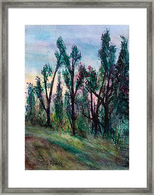 Forest Sunset Framed Print by Anais DelaVega