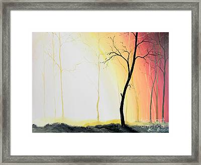 Forest Sunset Framed Print by Denisa Laura Doltu